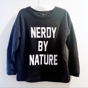 Forever21 Nerdy By Nature Black Graphic Sweatshirt